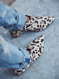 animal print ankle boots.