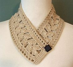 Crocheted Neckwarmer Scarflette  Fan Stitch by FuzzyLumpkinCrochet