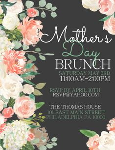 MotherS Day Poster Design Brunch Click To Customize  MotherS