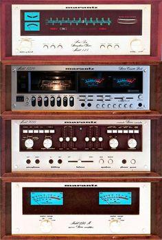 1976 Marantz / 125 tuner / 5220 cassettedeck / 3600 pre-amplifier / 250M power-amplifier / Industrial silver wood / Japan Stereo Cabinet, Hifi Audio, Old Tv, Audio Equipment, Tv On The Radio, Audiophile, Art Music, Retro, Sound & Vision