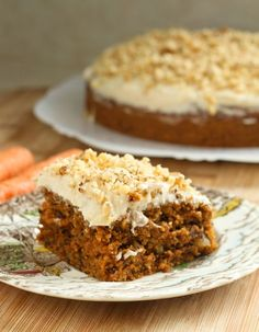 eggless carrot cake.  pretty much the moistest (is that a word?) cake I've ever had.  I used orange spice black tea instead of water.