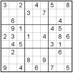 Printable Easy Sudoku on Easy Sudoku   Easy Printable Sudoku Puzzles 105 108 Print And Solve