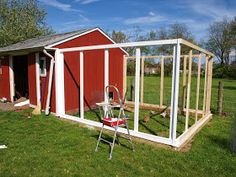 Building a chicken coop from recycled items and salvaged barn wood. Raising chickens