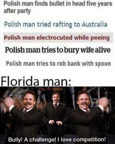 Stupid Funny Memes, Funny Relatable Memes, Funny Posts, Funny Stuff, Best Memes, Dankest Memes, Jokes, Green Day, Florida Man Meme