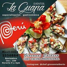@GiovanniVENTAS @chef.givannialberto #LaGuapa  Eventos La Guapa... Especialización gastronómica CURSO #PERÚ con el Chef Giovanni Caldera * Noviembre 2017 * Caracas  Información: * Telefono / Whatsapp: + 58 (424) 155.6864 * Twitter: @GiovanniVENTAS  * instagram: @chef.giovannialberto  #cocina #huancaina  #chef #ceviche #ajiaco #caracas