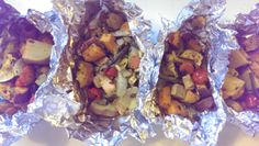 These quick and easy veggie dinner foilers are great for the grill, in the oven, and even for camping! Having a vegan option at a BBQ or campfire is a wonderful option.