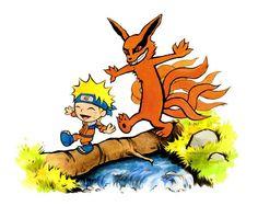 Naruto tribute Calvin and Hobbes