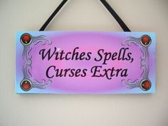Wicca Supplies, Pagan Supplies, Witchcraft Supplies, Spiritual Supplies - New Awakening - Wooden Wall Plaque-Witches Spells, $8.99 (http://www.wiccasupplies.ca/wooden-wall-plaque-witches-spells/)