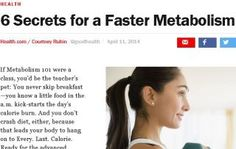 Fast Metabolism Diet Recipes 6 Secrets for a Faster Metabolism Metabolism Diet, Metabolism Booster, Metabolism Boosting Foods Top Pins. ☺♥☺ The Fast Metabolism Diet: Eat More Food and Lose More Weight by Haylie Pomroy ☺♥☺ #carbswitch carbswitch.com Please Repin :) #HotPinPtr