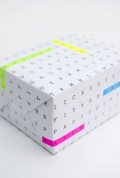 Smart Idea: Word Search Wrapping Paper | 2Modern Blog