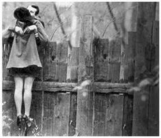 over the fence kiss