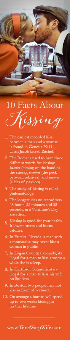 10 interesting (and odd) facts about kissing. - Time-Warp Wife