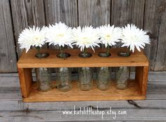 Wooden Milk Bottle Table Centerpiece. Country by Kateslittleshop