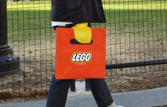 Lego bags: You no longer play with LEGO, you are the LEGO.
