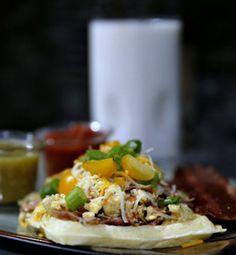 Yummy Breakfast Waffle Tacos Recipe via @dairypu #ad #dairypuremilk  #jbbb