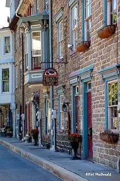 Row houses in Jim Thorpe , Pa