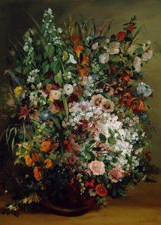 Vase de fleurs, par Gustave Courbet ══════════════════════ BIJOUX DE GABY-FEERIE ☞ http://gabyfeeriefr.tumblr.com/ ✏✏✏✏✏✏✏✏✏✏✏✏✏✏✏✏ ARTS ET PEINTURES - ARTS AND PAINTINGS ☞ https://fr.pinterest.com/JeanfbJf/artistes-peintres-painters/ ══════════════════════
