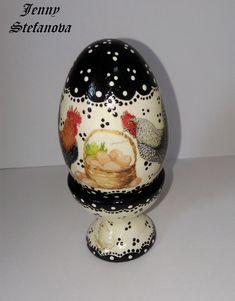 Decoupage by Jenny Stefanova Easter Eggs, Snow Globes, Decoupage, Home Decor, Easter Activities, Decoration Home, Room Decor, Home Interior Design, Home Decoration