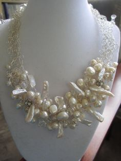 Crochet Pearl and Silver by WolfCreekCreations on Etsy, $65.00