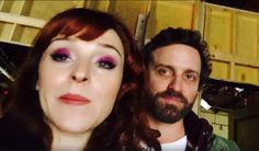 Ruth Connell  Behind the scenes with @robbenedict Rob Benedict why @mishacollins Misha Collins won't sit beside us... #SupernaturalSeasonFinal