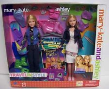 Mary Kate and Ashley Olsen Travel In Style Dolls Giftset Mattel 2001 NEW