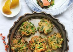 Recipe taken from Healthy Christmas Leftovers I'm a huge fan of fritters: they are packed full of goodness and taste; make the ideal quick, lazy breakfast/brunch; and are the perfect choice for reincarnating leftover veg. I love to top them… Vegetable Crisps, Popular Appetizers, Leftovers Recipes, Health Eating, Amelia Freer, Fritters, Lunches And Dinners, Vegetable Recipes, Veggie Food