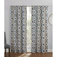 Richloom Home Fashions Portland Indoor/Outdoor Single Curtain Panel