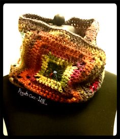 Granny square infinity scarf - so colorful I just love it