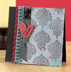 Combine stamps and spray inks to create a card background; Alisa Bangerter - Paper Crafts Stamp It! Cards 2009; make cards, stamping