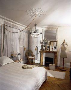 ぜひ参考にしたい!海外のシャビーシックなベッドルーム例 62 の画像|賃貸マンションで海外インテリア風を目指すDIY・ハンドメイドブログ<paulballe ポールボール>