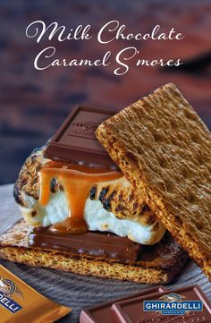 Ghirardelli SQUARES makes your s'mores a bite better. They are easiest way to upgrade a three-ingredient treat like classic s'mores is to focus on the chocolate! Instead of using a plain chocolate bar, go for quality chocolate and luscious fillings.