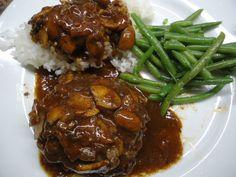 Hawaiian Style Plate Lunch Hamburger Steak #ONO