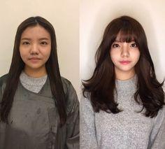 Tóc mái thưa lại mang lại vẻ trẻ trung. Side Fringe Hairstyles, Permed Hairstyles, Diy Hairstyles, Pretty Hairstyles, Korean Hairstyle Long, Medium Hair Styles, Short Hair Styles, Pop Hair, Before After Hair