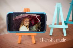 Then she made...: DIY Phone Stand