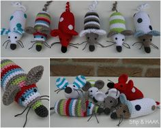 Free Mouse Crochet Pattern  Love her work. Use translate at top right on blog. Especially love her cat and penguin stuffies.