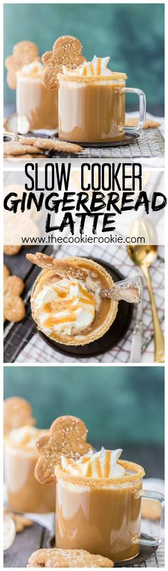 Slow Cooker Gingerbread Latte- Easy the best. It tastes and smells like Christmas in my house thanks to these Crockpot Gingerbread Lattes! Christmas Coffee, Christmas Brunch, Christmas Drinks, Christmas Cooking, Holiday Drinks, Christmas Treats, Christmas Christmas, Christmas Movie Night, Quilling Christmas