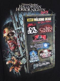 Halloween Horror Nights Shirt Large The Walking Dead Universal Orlando 2013 #HalloweenHorrorNights #ShortSleeve