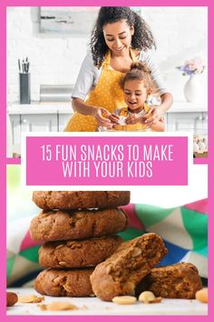 Cooking with kids is a great way to get them engaged with their food and to teach valuable life skills. Here are 15 yummy ideas they'll love helping with and you'll all love eating! Snacks To Make, Cooking With Kids, Life Skills, Meal Planning, Healthy Recipes, Meals, Breakfast, Fun, How To Make