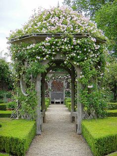 Gardening Roses Seend Manor Rose Garden image via Paul *'s photostream - Garden Arbor, Garden Gates, Garden Landscaping, Beautiful Gardens, Beautiful Flowers, Beautiful Gorgeous, Absolutely Gorgeous, Beautiful Places, Garden Cottage