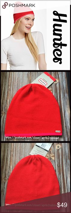 ❗️1-HOUR SALE❗️HUNTER ORIGINAL Beanie Hat 💟NEW WITH TAGS💟  HUNTER ORIGINAL Beanie Hat  * Well made & high quality knit construction  * Stretch-to-fit  * Ribbed & neon trim detail   * Reversible design; mini Hunter logo detail   * Super soft & comfortable  * Unisex, one size fits most   Material: 100% extra fine wool, 100% nylon lining  Color: Bright Coral, Neon Pink Item#:   🚫No Trades🚫 ✅ Offers Considered*✅ *Please use the blue 'offer' button to submit an offer Hunter Boots Accessories…