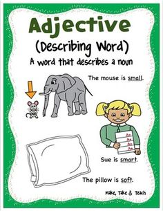 Parts of Speech Posters by Make Take Teach School Posters, Classroom Posters, School Classroom, English Grammar Worksheets, 2nd Grade Worksheets, Learn English Words, English Lessons, Speech Language Therapy, Speech And Language