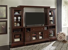 Ashley Lavidor 62 TV Stand in Chocolate -- Be sure to check out this awesome product. (This is an affiliate link) #AshleyGameandRecreationRoomFurniture