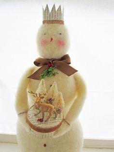Beautiful Handmade Snowman Christmas Decoration. $49.99, via Etsy.