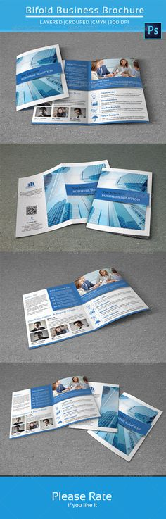 Bifold Business Brochure-V114  —  PSD Template • Download ➝…