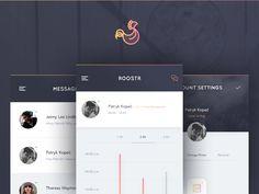 Roostr - Mobile App by Patryk Kopeć