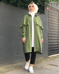 Modest Fashion Hijab, Casual Hijab Outfit, Hijab Chic, Hijab Dress, Muslim Fashion, Fashion Outfits, Punk Fashion, Ladies Fashion, Modest Dresses