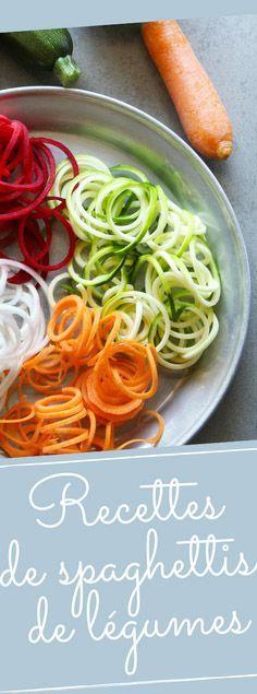 Découvrez nos recettes de spaghettis de légumes originales et saines