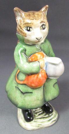 Rare Vintage Beatrix Potter Beswick Figurine BP3B Simpkins CAT 1975 | eBay