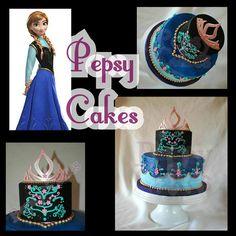 Anna Cake #AnnaCake #Frozen #PepsyCakes