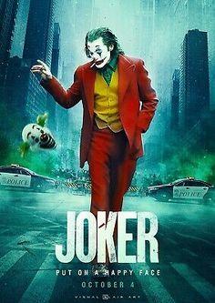 Joker movie Joaquin Phoenix art print poster silk or canvas inch living room bedroom decorative painting Heath Joker, Joker Dc, Gotham Batman, Batman Art, Batman Robin, Joaquin Phoenix, Joker Full Movie, Joker Film, Joker Poster
